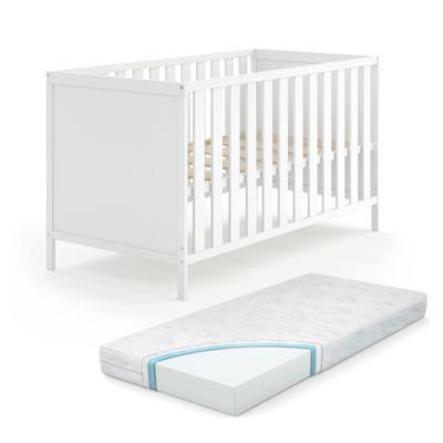 Kombi Babybett Jonas 70x140 Weiß mit Matratze weiß Gr. 70 x 140