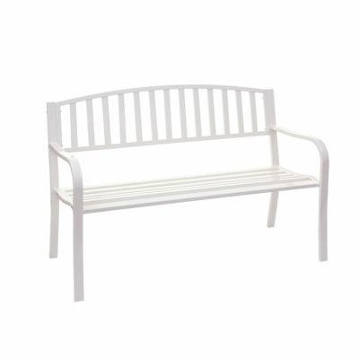 HWC Mendler Gartenbank 2-Sitzer weiß