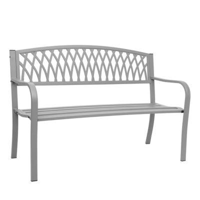 HWC Mendler Gartenbank 2-Sitzer grau