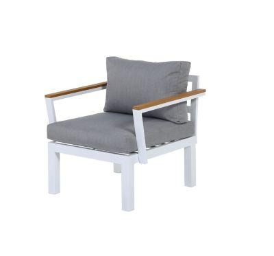 Gartenfreude Lounges Aluminium Sessel Ambience weiß/beige
