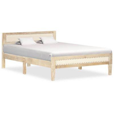 Bettgestell Mango Massivholz Doppelbett Bett Holzbett Futonbett braun
