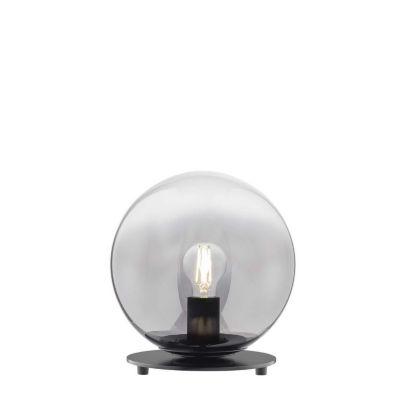 Schöner Wohnen Kollektion Tischleuchte aus Glas exkl. Leuchtmittel MIRROR austauschbare LED Retrofit möglich schwarz