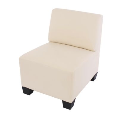HWC Mendler Modulare Garnitur, Sessel ohne Armlehnen creme