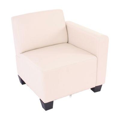 HWC Mendler Modulare Garnitur, Seitenteil rechts, Sessel mit Armlehne creme