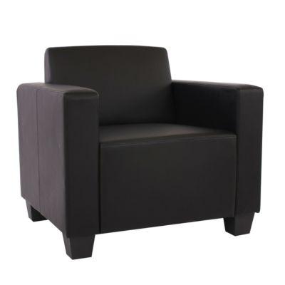 HWC Mendler Modulare Garnitur, Sessel schwarz