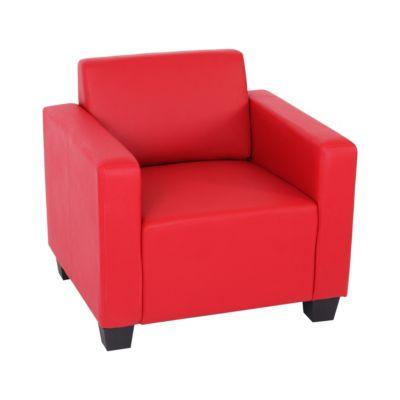 HWC Mendler Modulare Garnitur, Sessel rot