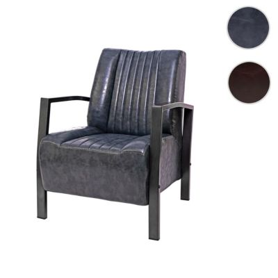 HWC Mendler Loungesessel im Industriedesign grau