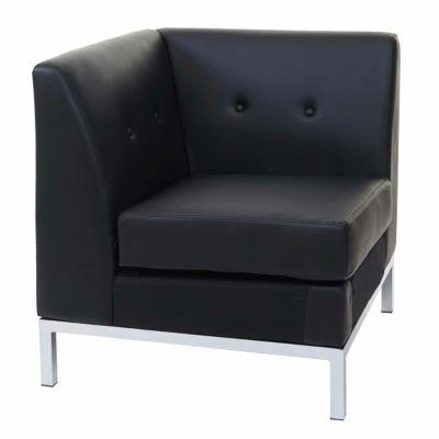 HWC Mendler Sessel, Modular-Sofa Eckteil schwarz