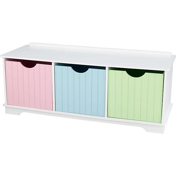Sitzbank mit Stauraum, Weiß/Pastell, weiß, KidKraft | yomonda