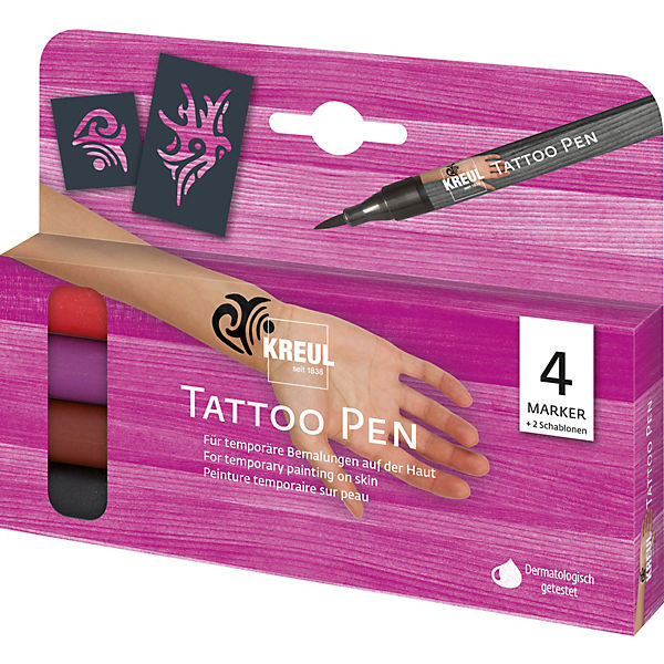 Tattoo Pen 4er-Set Tribals