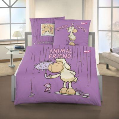 Kinderbettwäsche NICI Animal Friend, Renforce, 135 x 200 cm lila | Kinderzimmer > Textilien für Kinder > Kinderbettwäsche | Baumwolle | yomonda