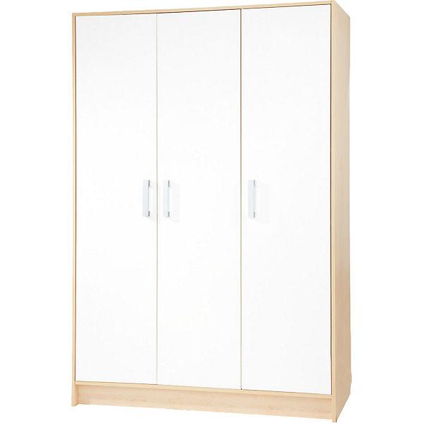 kleiderschrank florian 3 t rig ahorn creme wei pinolino yomonda. Black Bedroom Furniture Sets. Home Design Ideas
