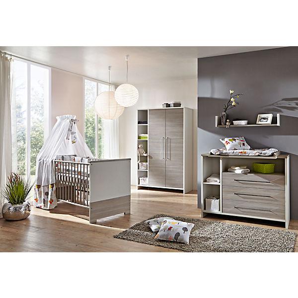 Komplett Kinderzimmer ECO SILBER, 3-tlg. (Kinderbett, Wickelkommode ...