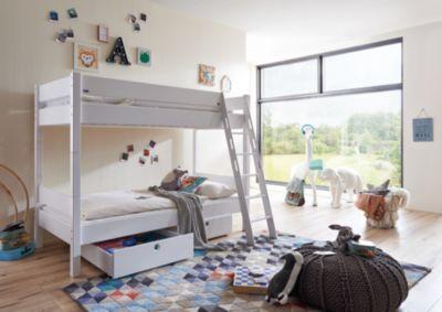 Etagenbett Weiß Kinder : Etagenbett für drei kinder interbeds safe play