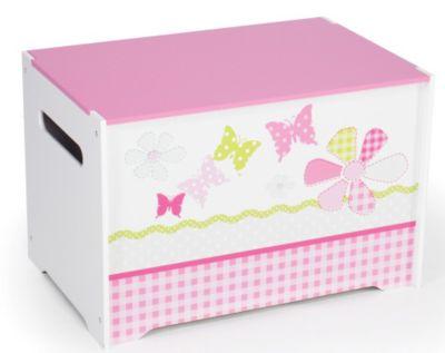 WORLDS APART Spielzeug Truhe Schmetterling Patchwork pink/weiß | Kinderzimmer > Spielzeuge > Spielzeugkisten | Worlds Apart