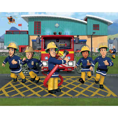 Wandsticker Feuerwehrmann Sam, XXL, mehrfarbig, Feuerwehrmann Sam