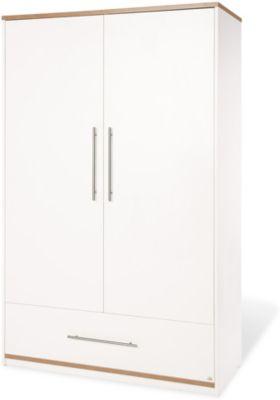 Kleiderschrank TUULA, 2-türig, Nussbaum/Weiß weiß