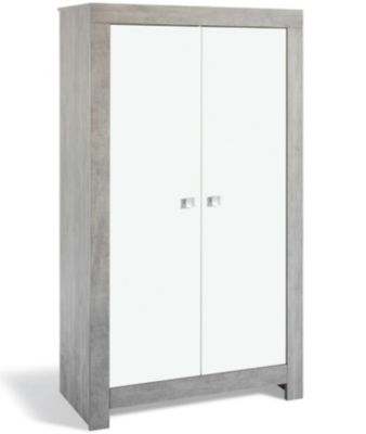 Kleiderschrank NORDIC DRIFTWOOD, Drift Wood/weiß, 2-türig grau