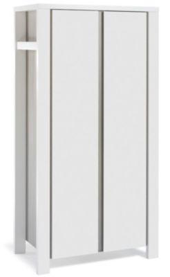 Kleiderschrank MILANO PINIE, Pinie silberfarbig/weiß, 2-türig grau