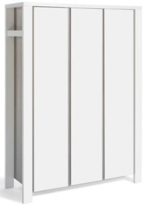 Kleiderschrank MILANO PINIE, Pinie silberfarbig/weiß, 3-türig