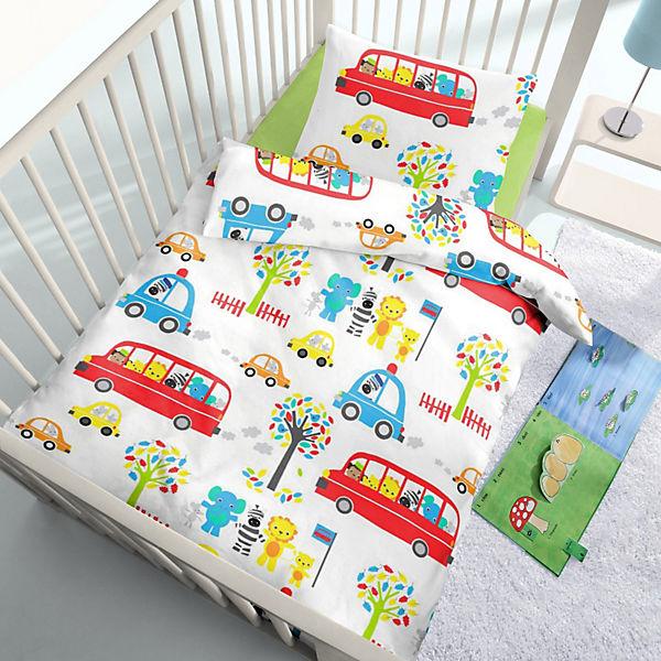 Kinderbettwäsche Bus Renforcé 100 X 135 Cm Weiß