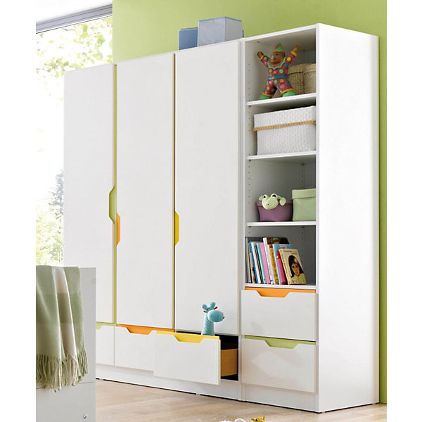 kleiderschrank fresh 3 t rig weiss bunt wei geuther yomonda. Black Bedroom Furniture Sets. Home Design Ideas