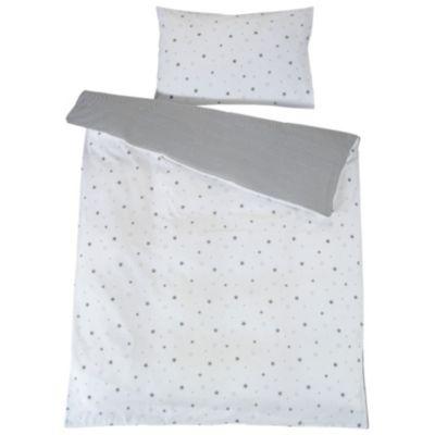 Schardt Kinderbettwäsche Sternchen, grau, 100 x 135 cm   Kinderzimmer > Textilien für Kinder > Kinderbettwäsche   Grau   Baumwolle   Schardt
