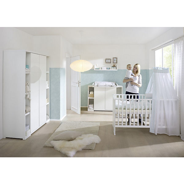 Komplett Kinderzimmer Maximo Weiss 3 Tlg Kinderbett Umbauseiten