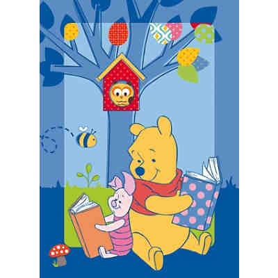Kinderteppich Winnie the Pooh, Geschichte, 95 x 133 cm, blau, Disney Winnie  Puuh