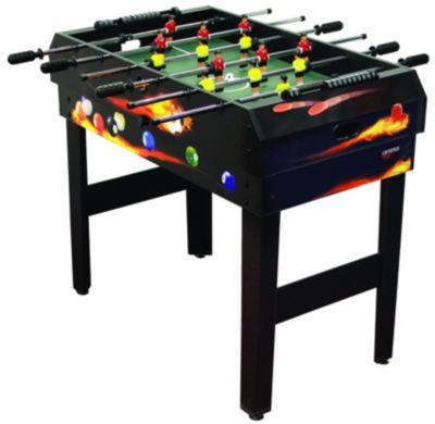 Kicker Multigame-Tisch 4 in 1 schwarz
