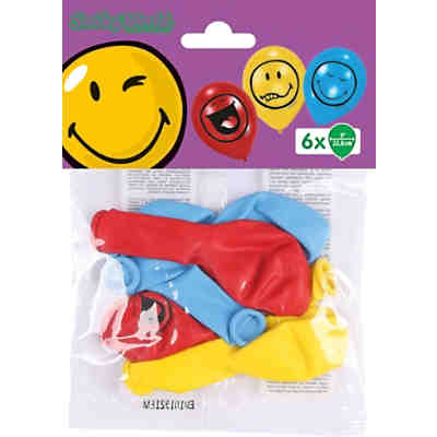 Luftballons Smiley Express You 22,8 cm, 6 Stück