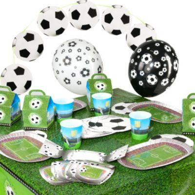 Partyset Soccer/Fußball, 62-tlg. grün/weiß