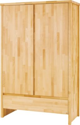 Pinolino Kleiderschrank FAGUS, 2-türig, FSC®-zertifizierte Buche vollmassiv, geölt holzfarben