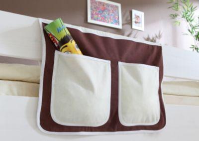 Betttasche Hoch- und Etagenbetten, braun-beige Gr. 30 x 50 Kinder