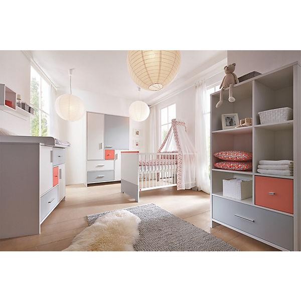 Komplett kinderzimmer candy red 3 tlg kinderbett umbauseiten wickelkommode und 3 t riger - Kinderzimmer rot ...