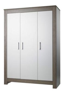 Geuther Kleiderschrank MARLENE , Wenge Lehm/Weiß, 3-türig weiß