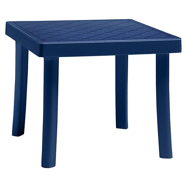 Kunststoff beistelltisch hocker lola blau yomonda for Beistelltisch kunststoff