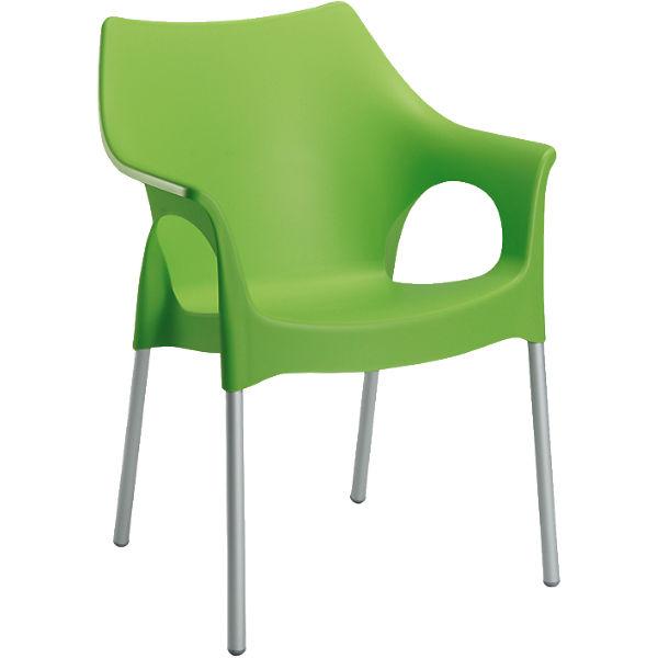 kunststoff gartenstuhl finja stapelbar gr n best. Black Bedroom Furniture Sets. Home Design Ideas