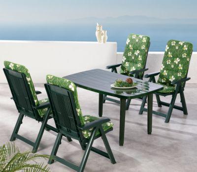 9-tlg. Garten Sitzgruppe ´´Elisa Flower´´ grün
