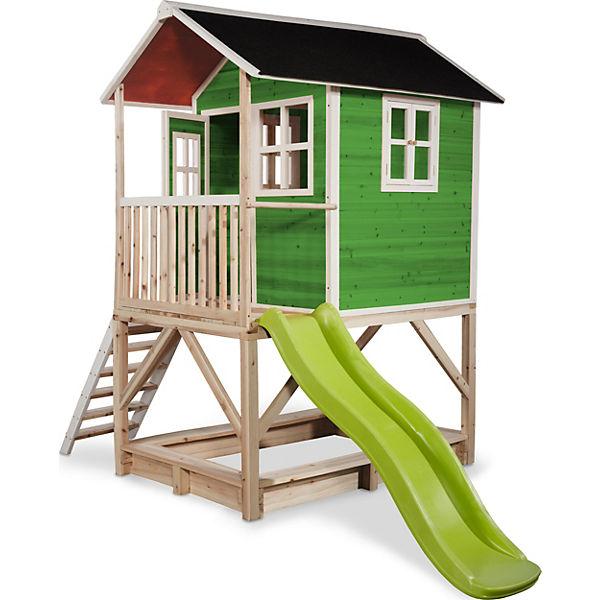 Spielhaus Loft Mit Veranda Sandkasten Und Rutsche Grun Ca 118