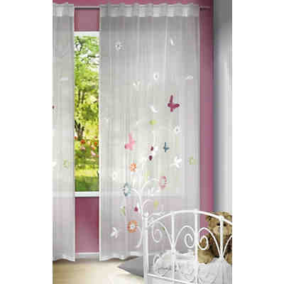 gardine fr hlingsbaum 245 x 140 cm 1 schal wei yomonda. Black Bedroom Furniture Sets. Home Design Ideas