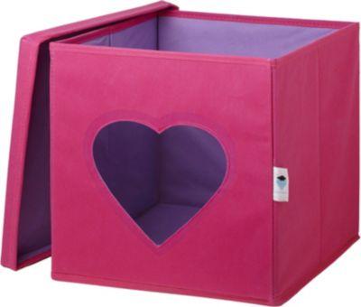 STORE IT! Aufbewahrungsbox Herz, mit Sichtfenster, pink pink/blau | Dekoration > Aufbewahrung und Ordnung > Korbwaren | STORE IT!