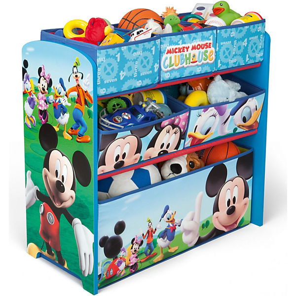 6 boxen regal mickey mouse blau disney mickey mouse. Black Bedroom Furniture Sets. Home Design Ideas