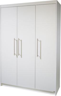 Kleiderschrank MAREN, 3-türig, Weiß weiß
