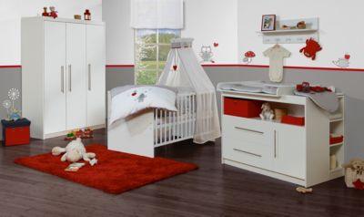 Roba Kinderbett & Wickelkommode (breit) Sparset MAREN, Weiß weiß Gr. 70 x 140