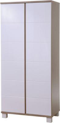 Roba Kleiderschrank GENOVA, 2-türig, Pinie/Weiß weiß