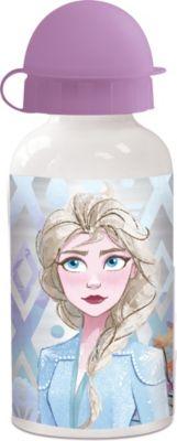 P:OS Alu Trinkflasche Die Eiskönigin, 400 ml pink