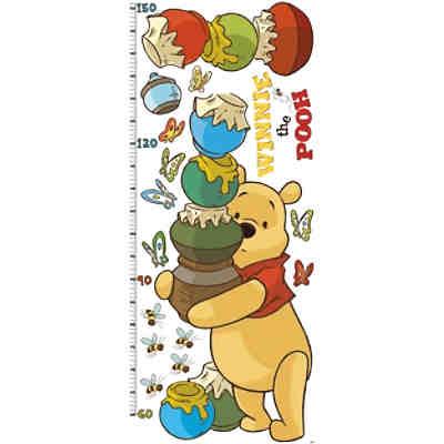 Wandsticker Messlatte, Winnie the Pooh, 17-tlg., gelb, Disney Winnie ...