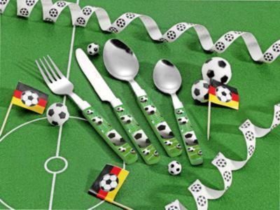 Kinderbesteck Fußball Edelstahl 18/0, 16-tlg. grün