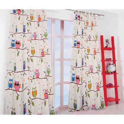gardine bunte punkte 245 x 135 cm mehrfarbig yomonda. Black Bedroom Furniture Sets. Home Design Ideas